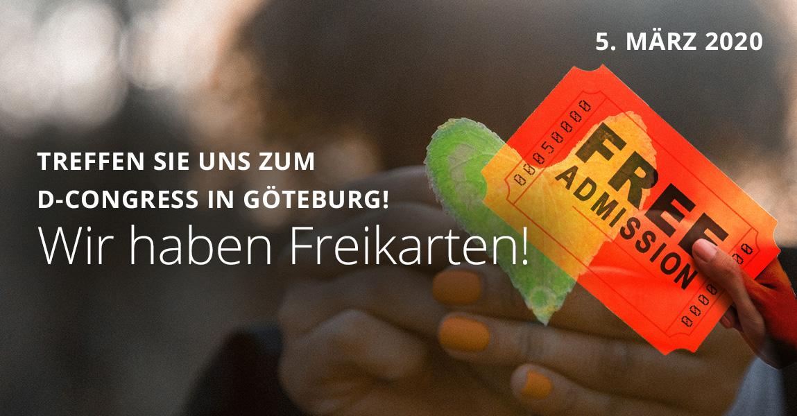 Treffen Sie uns in Göteburg zum D-Congress!