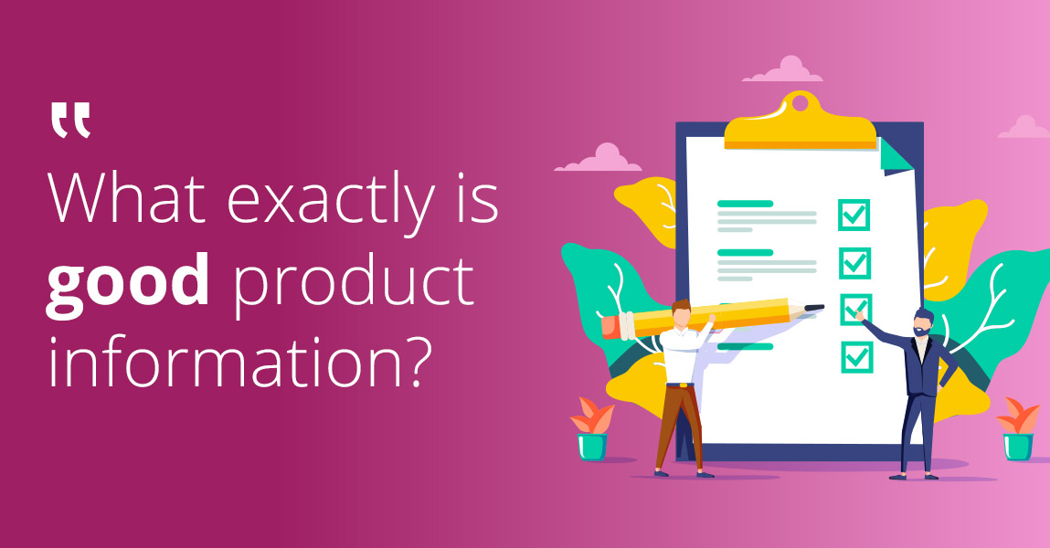 What is good product information in B2B?